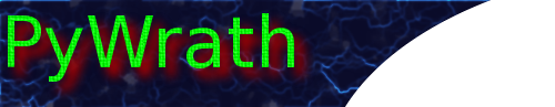 PyWrath banner. PyWrath is a play-by-email strategy game.